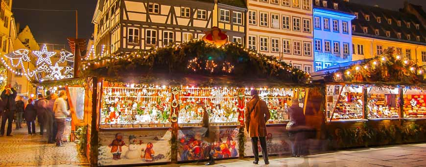 Christmas Market stall in Europe