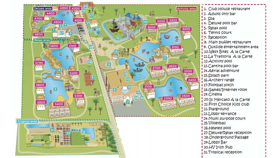 TUI Holiday Village Rhodes resort map