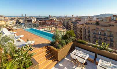 The One Hotel Rooftop Pool Barcelona