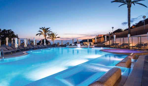 TUI Sensatori Resort Ibiza Pool in the Evening