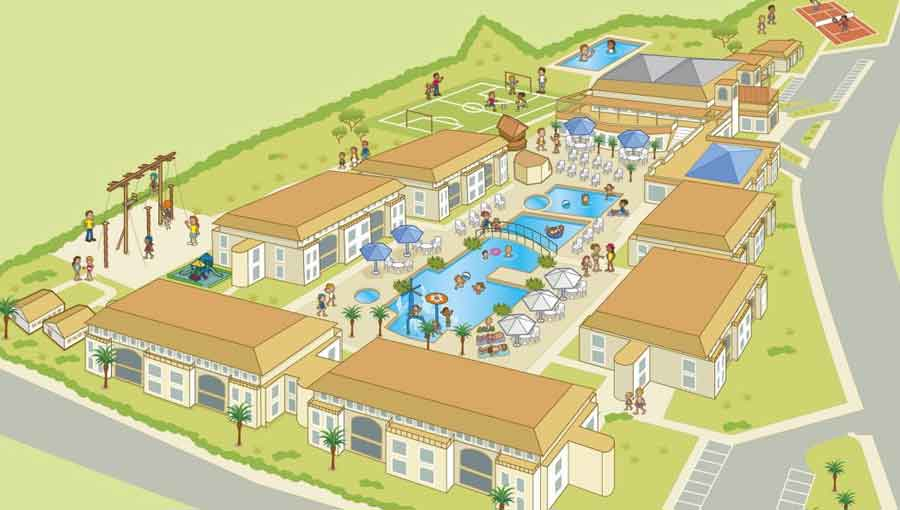 TUI Holiday Village Menorca resort map