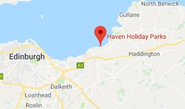Map of Haven Seton Sands Holiday Park Scotland