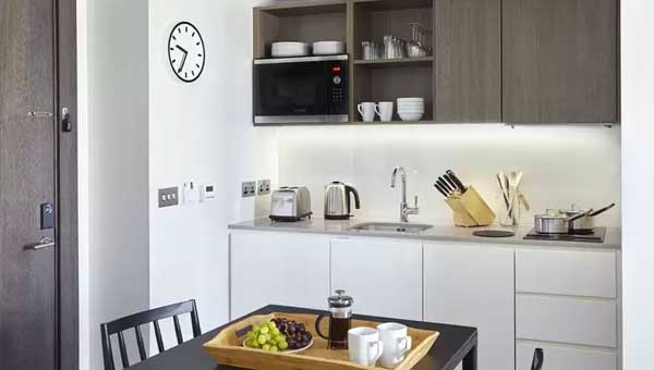 Staybridge Suites Vauxhall Kitchen